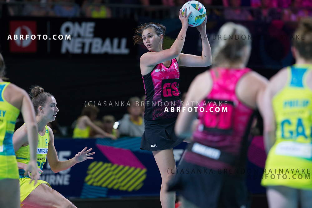 Ameliaranne Ekenasio during the Fast5 Netball 3rd Vs 4th match between New Zealand Silver Ferns and Australia at Hisense Arena Melbourne Australia. Sunday 29th October 2017. Copyright Photo. Brendon Ratnayake / www.photosport.nz