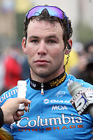 8 September 2008: Mark Cavendish of Team Columbia addresses the media after winning stage 1 of the Tour of Missouri in Kansas City, MO.