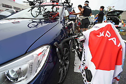 May 26, 2018 - Izu, Shizuoka, Japan - A cycling jersey of National Japan Team seen at the start area of Izu stage, 120.8km on Izu-Japan Cycle Sports Center Road Circuit, the seventh stage of Tour of Japan 2018. .On Saturday, May 26, 2018, in Izu, Shizuoka Prefecture, Japan. (Credit Image: © Artur Widak/NurPhoto via ZUMA Press)