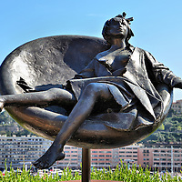 Tebe in Costume Sculpture in Monte Carlo, Monaco <br />