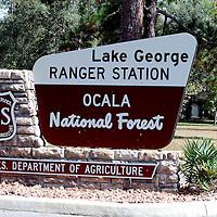 Lake George Ranger Station signage in Ocala, Florida. (AP Photo/Alex Menendez) Florida scenic highway photos from the State of Florida. Florida scenic images of the Sunshine State.