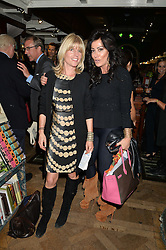 Left to right, RACHEL JOHNSON and NANCY DELL'OLIO at a party to celebrate the publication of Stanley I Resume by Stanley Johnson at the Daunt Bookshop, Marylebone High Street, London on 23rd September 2014.