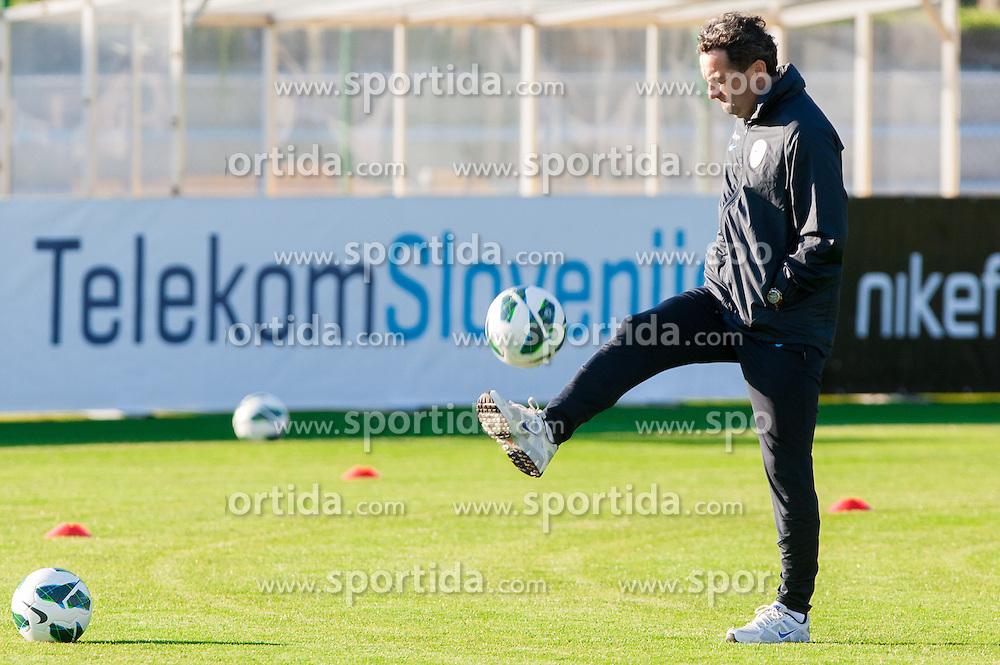 Slavisa Stojanovic, head coach of Slovenian National football team during training camp for World Cup Brasil 2014 Qualifications on October 8, 2012 in Kidricevo at Ptuj, Slovenia. (Photo By Vid Ponikvar / Sportida)