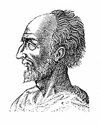 Jean Antoine de Baif (1532-1589) French poet; member of the Pleiade, seven French poets devoted to reforming French language and ennobling French literature. Engraving