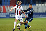 Onderwerp/Subject: Willem II - Feyenoord - Eredivisie<br /> Reklame:  <br /> Club/Team/Country: <br /> Seizoen/Season: 2012/2013<br /> FOTO/PHOTO: Niek VOSSEBELT (L) of Willem II in duel with Tonny TRINDADE DE VILHENA (R) of Feyenoord. (Photo by PICS UNITED)<br /> <br /> Trefwoorden/Keywords: <br /> #04 $94 &plusmn;1354627667242<br /> Photo- &amp; Copyrights &copy; PICS UNITED <br /> P.O. Box 7164 - 5605 BE  EINDHOVEN (THE NETHERLANDS) <br /> Phone +31 (0)40 296 28 00 <br /> Fax +31 (0) 40 248 47 43 <br /> http://www.pics-united.com <br /> e-mail : sales@pics-united.com (If you would like to raise any issues regarding any aspects of products / service of PICS UNITED) or <br /> e-mail : sales@pics-united.com   <br /> <br /> ATTENTIE: <br /> Publicatie ook bij aanbieding door derden is slechts toegestaan na verkregen toestemming van Pics United. <br /> VOLLEDIGE NAAMSVERMELDING IS VERPLICHT! (&copy; PICS UNITED/Naam Fotograaf, zie veld 4 van de bestandsinfo 'credits') <br /> ATTENTION:  <br /> &copy; Pics United. Reproduction/publication of this photo by any parties is only permitted after authorisation is sought and obtained from  PICS UNITED- THE NETHERLANDS