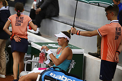 May 21, 2019 - Paris, France - Yanina Wickmayer during the match between Natal'ja Vichljanceva of RUS vs Yanina Wickmayer of BEL in the first round qualifications of 2019 Roland Garros, in Paris, France, on May 21, 2019. (Credit Image: © Ibrahim Ezzat/NurPhoto via ZUMA Press)