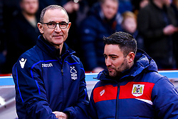 Nottingham Forest manager Martin O'Neill and Bristol City head coach Lee Johnson - Mandatory by-line: Robbie Stephenson/JMP - 19/01/2019 - FOOTBALL - The City Ground - Nottingham, England - Nottingham Forest v Bristol City - Sky Bet Championship