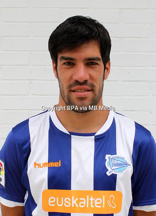 """Spain - La Liga Adelante 2014-2015 / <br /> ( Deportivo Alaves ) - <br /> Manuel Alejandro Garcia Sanchez """" Manu Garcia """""""