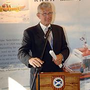 NLD/Huizen/20060512 - Opening vernieuwd KNRM reddingsstation Huizen Energieweg 1, directeur van de KNRM, Koninklijke Nederlandse Reddings Maatschappij