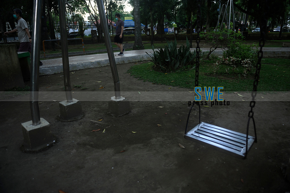 Medan, Indonesia, March 25, 2020: Public facility room situation seen as the humanity dailylife during warning of the spread of Corona Virus Disease (COVID) 19 in Medan, Indonesia on March 25, 2020.