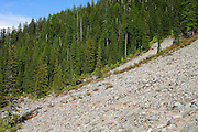 Rockslide on trail to Revette Lake, Thompson Pass, on the Idaho Montana Boarder