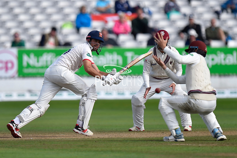 Alastair Cook of Essex batting during the Specsavers County Champ Div 1 match between Somerset County Cricket Club and Essex County Cricket Club at the Cooper Associates County Ground, Taunton, United Kingdom on 26 September 2019.