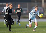 FODBOLD: Lucas Haren (FC Helsingør) under træningskampen mellem FC Helsingør og AB den 19. januar 2019 på Snekkersten Idrætscenter. Foto: Claus Birch