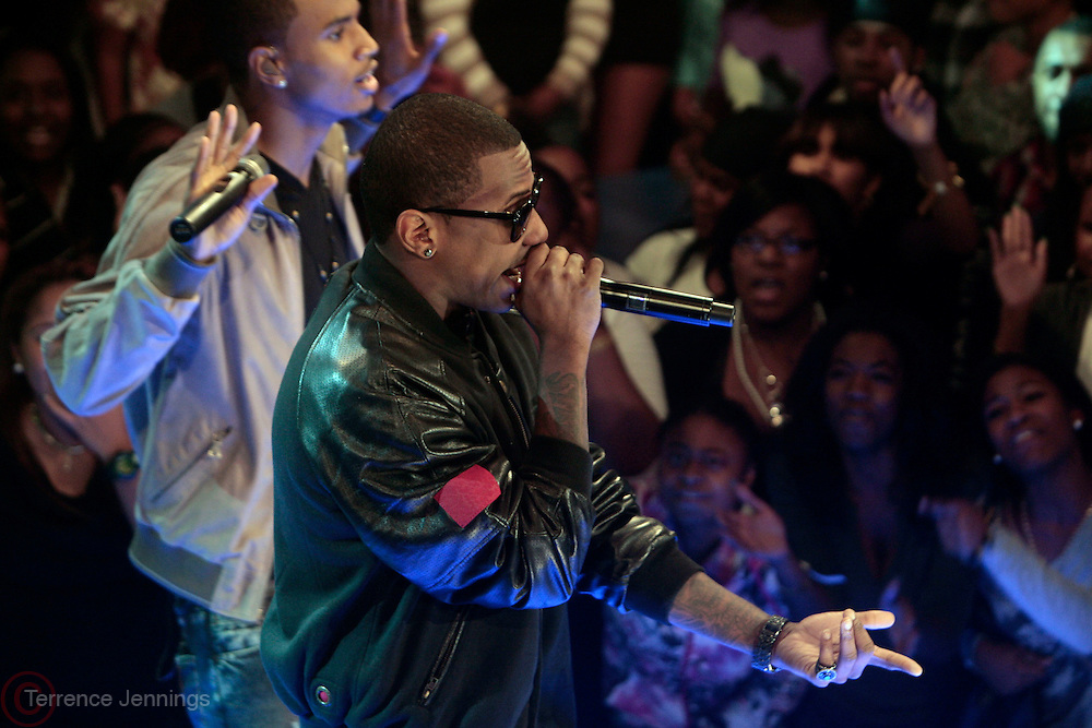 6 October 2010- New York, New York- l to r: Fabolous and Trey Songz perfom at The 10th Anniversary Celebration of BET's 106 & Park, BET's most popular music series of all time held at CBS Studios on October 6, 2010 in New York City. Photo Credit: Terrence Jennings