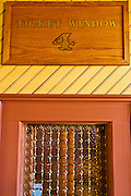Ticket window at the Durango & Silverton Narrow Gauge Railroad depot, Durango, Colorado