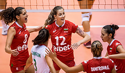 24-08-2017 NED: World Qualifications Bulgaria - Greece, Rotterdam<br /> Eva Yaneva #8 of Bulgaria, Mariya Dancheva #12 of Bulgaria