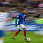 PARIS, FRANCE - March 25:  Kylian Mbappé #10 of France in action during the France V Iceland, 2020 European Championship Qualifying, Group Stage at  Stade de France on March 25th 2019 in Paris, France (Photo by Tim Clayton/Corbis via Getty Images)