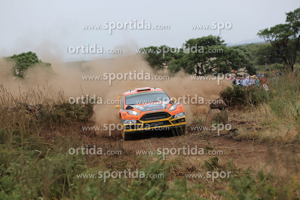 12.06.2015, Putifigari, Alghero, ITA, FIA, WRC, Rally Italia Sardegna 2015, Tag 1, im Bild Martin Prokop/Jan Tomanek (Jipocar Czech National Team/Fiesta RS WRC) // during day one of FIA WRC Rallye Italia Sardegna 2015 at Putifigari in Alghero, Italy on 2015/06/12. EXPA Pictures &copy; 2015, PhotoCredit: EXPA/ Eibner-Pressefoto/ Bermel<br /> <br /> *****ATTENTION - OUT of GER*****