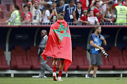 Faycal Fajr of Morocco during the 2018 FIFA World Cup Russia group B match between Portugal and Morocco at the Luzhniki Stadium on June 20, 2018 in Moscow, Russia