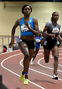 Mar 4, 2017; Albuquerque, NM, USA: Candace Hill places third in the women's 300m in 36.56 during the USA Indoor Championships at Albuquerque Convention Center.