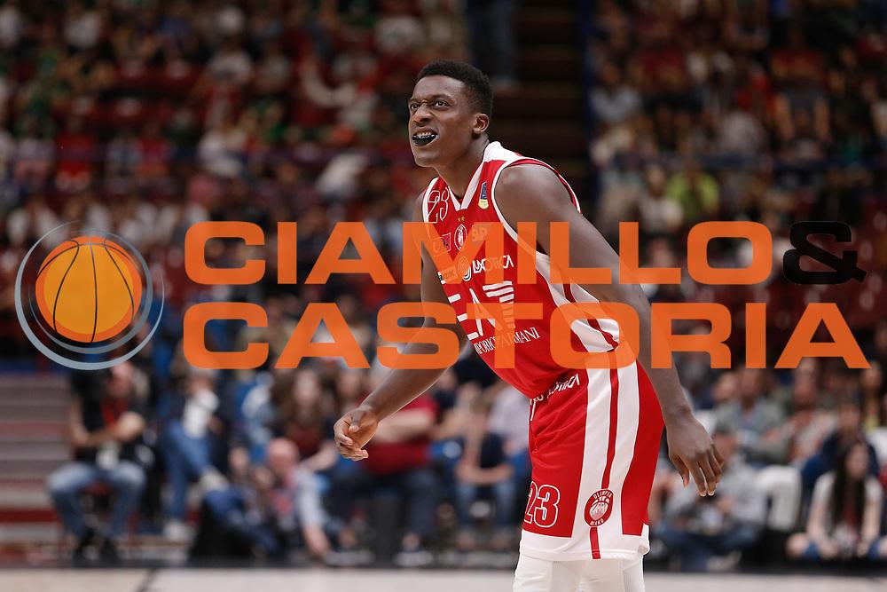 Abass Awudu<br /> EA7 Olimpia Milano - The Flexx Pistoia<br /> Legabasket Serie A 2017/18<br /> Milano, 06/05/2018<br /> Foto MarcoBrondi / Ciamillo-Castoria