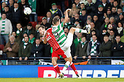 Aberdeen's  Andrew Considine (4) and Celtic's Mikael Lustig (23) tussle during the Betfred Scottish Cup  Final match between Aberdeen and Celtic at Hampden Park, Glasgow, United Kingdom on 27 November 2016. Photo by Craig Galloway.