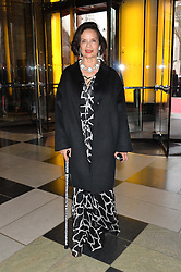 BIANCA JAGGER at a VIP preview of the V&A's new exhibition 'The Glamour of Italian Fashion' - a comprehensive look at Italian Fashion from 1945-2014 held at The Victoria & Albert Museum, London on 2nd April 2014.