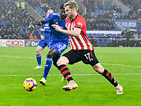 Football - 2018 / 2019 Premier League - Cardiff City vs. Southampton<br /> <br /> Stuart Armstrong Southampton on the attack Bruno Ecuele Manga Cardiff City, at Cardiff City Stadium.<br /> <br /> COLORSPORT/WINSTON BYNORTH