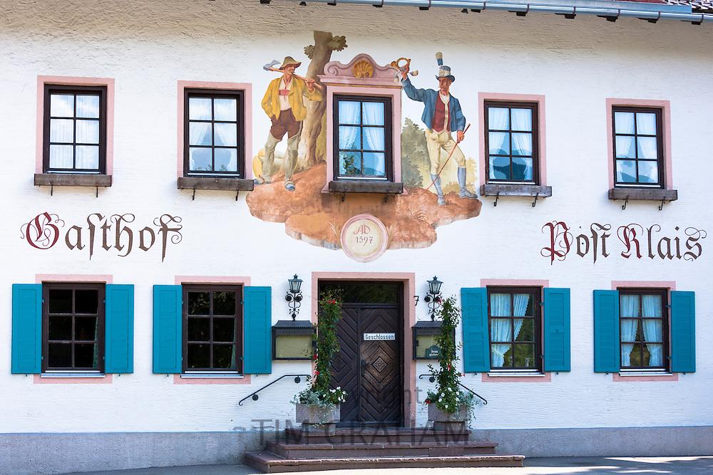 Gasthof Post Klais hotel in the village of Klais in Bavaria, Germany