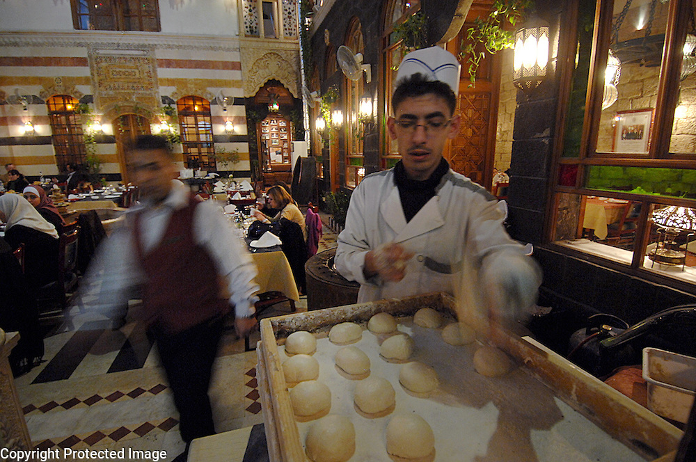 Baking Bread at Khawali Restaurant