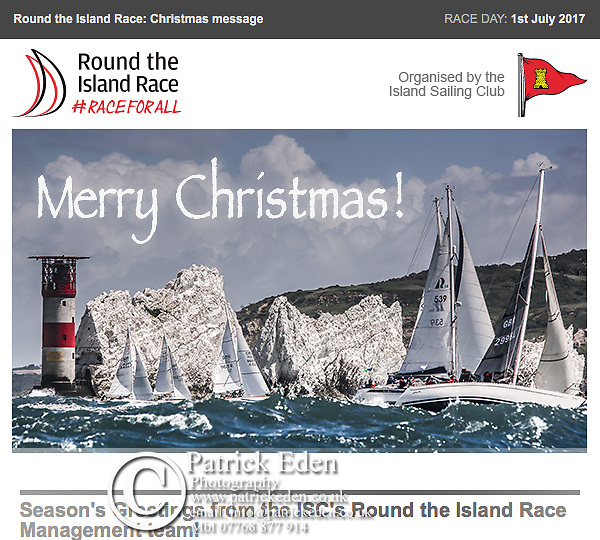 2016 Round the Island Race Christmas Card, Cowes, Isle of Wight, UK,