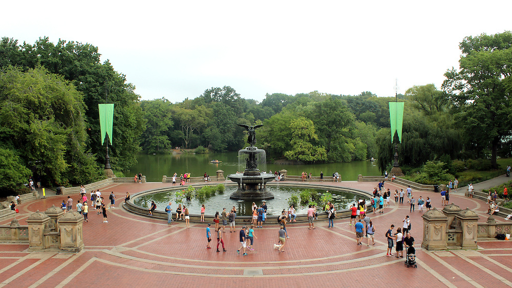 NEW YORK CITY - SEPTEMBER 01: Historic Bethesda Terrace in Central Park was finished in 1864, shows up in many works of pop culture, and is a popular tourist attraction September 01, 2013 in New York, NY.