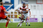 Bradford Bulls replacement Ross Peltier (17) in action  during the Kingstone Press Championship match between Sheffield Eagles and Bradford Bulls at, The Beaumont Legal Stadium, Wakefield, United Kingdom on 3 September 2017. Photo by Simon Davies.