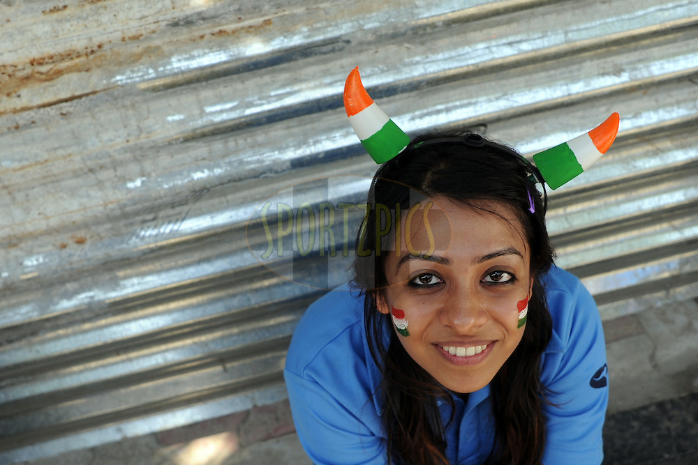 An Indian spectator during the ICC Cricket World Cup semi final match between India and Pakistan South Africa held at the Mohali Cricket Stadium in Mohali on the 30 March 2011..Photo by Pal Pillai/BCCI/SPORTZPICS