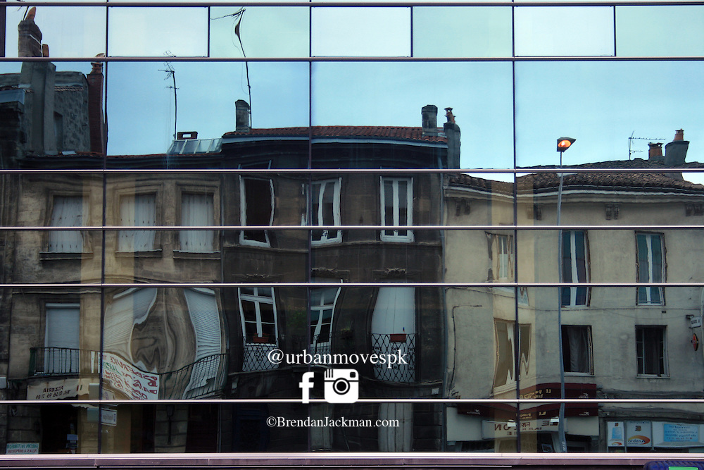 Refections, old and new, Bordeaux, France.