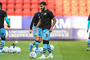 Forest Green Rovers Dominic Bernard(3) warming up during the EFL Cup match between Charlton Athletic and Forest Green Rovers at The Valley, London, England on 13 August 2019.