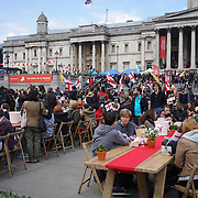 London,England,UK : 23th April 2016 : Hundreds attend the St George's Day of English heritages in Trafalgar square in London. Photo by See Li