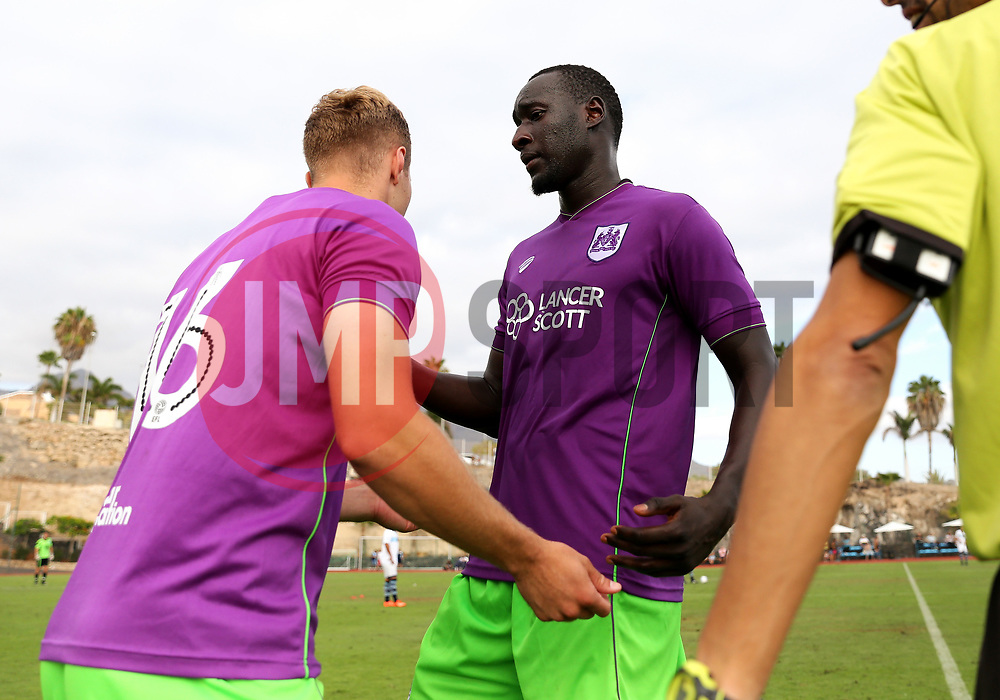 Gustav Engvall of Bristol City replaces Famara Diedhiou - Mandatory by-line: Matt McNulty/JMP - 22/07/2017 - FOOTBALL - Tenerife Top Training - Costa Adeje, Tenerife - Bristol City v Atletico Union Guimar  - Pre-Season Friendly