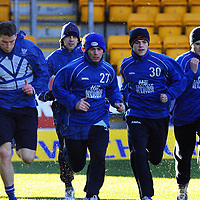 St Johnstone training...28.12.01<br />