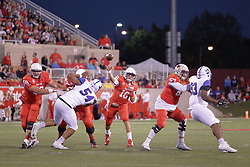 30 September 2017:   Jake Kolbe during the Indiana State Sycamores at Illinois State Redbirds Football game at Hancock Stadium in Normal IL (Photo by Alan Look)
