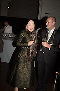 DOWAGER VISCOUNTESS ROTHERMERE; CHRISTOPHER LE BRUN, Dinner and a performance and film screening from Carnet de and Mike Figgis (who has created a film especially for the event)  to celebrate David Tang and to mark the start of construction of the RA's £50 million redevelopment project.  Royal Academy. Piccadilly. London. 26 October 2015.