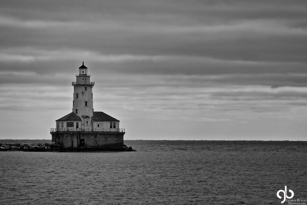 At the end of Navy Pier in Chicago is a great lighthouse.