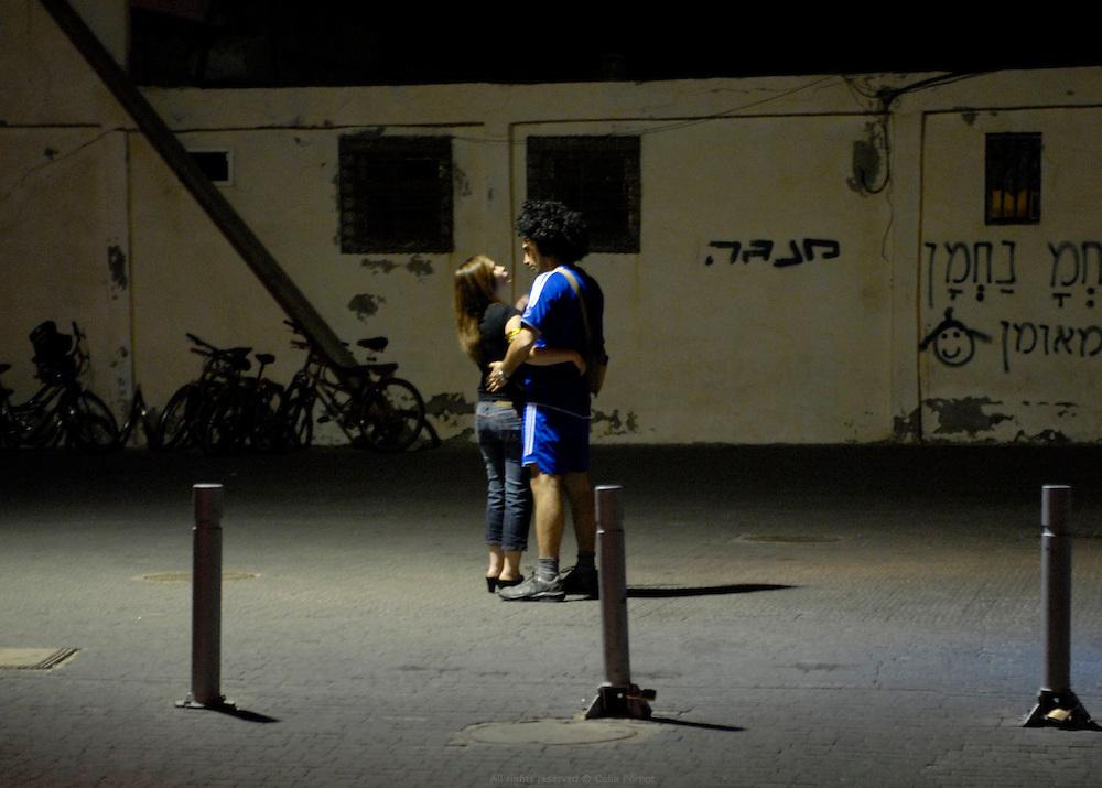 Devant l'entr&Egrave;e du club TLV - Tel Aviv, Israel, 2008<br />  <br /> Late at night outside of TLV nightclub - Tel Aviv, Israel, 2008