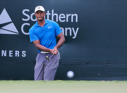 September 22, 2018 - Atlanta, Georgia, United States - Tiger Woods chips on to the 9th green during the third round of the 2018 TOUR Championship. (Credit Image: © Debby Wong/ZUMA Wire)
