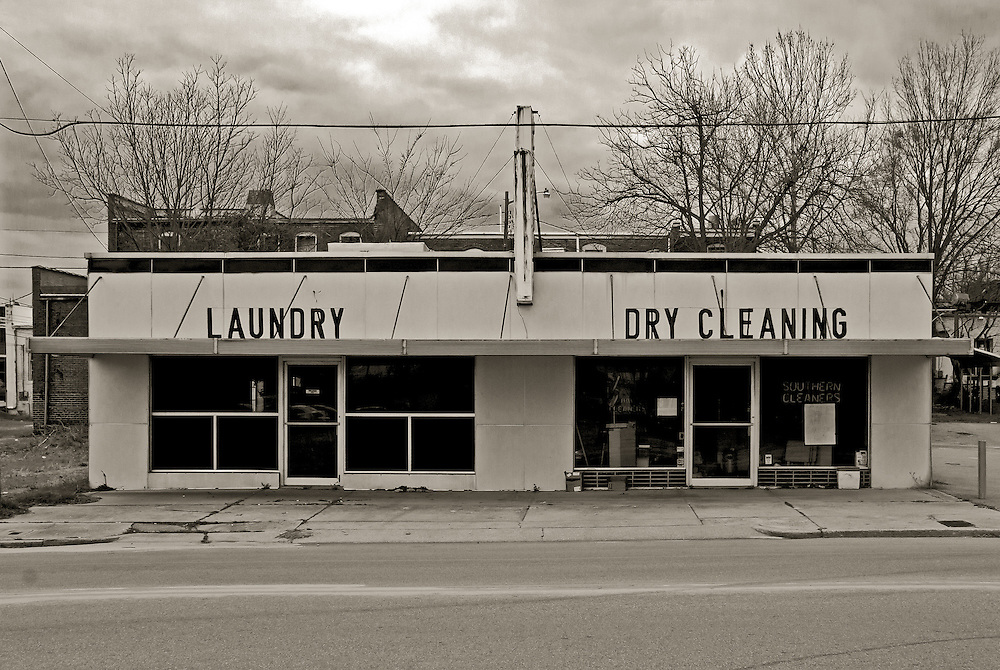 Abandon laundry dry cleaners. Laurinburg,NC Circa 2010