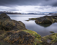 Seascape from Arnarfjörður, mount Byltufjall left in background. West fiords of Iceland.