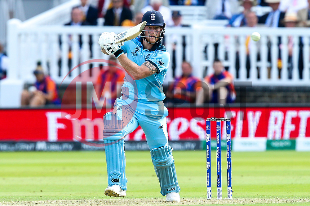 Ben Stokes of England batting - Mandatory by-line: Robbie Stephenson/JMP - 14/07/2019 - CRICKET - Lords - London, England - England v New Zealand - ICC Cricket World Cup 2019 - Final