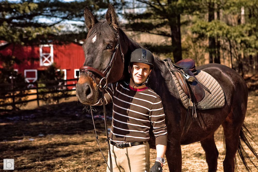 Equestrain images of Scott Firby at Willow Hill Farm in Clintonville, N.Y.