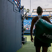 August 25, 2016, New Haven, Connecticut: <br /> Roberta Vinci of Italy looks on as she waits in the tunnel before playing Johanna Larsson of Sweden during Day 7 of the 2016 Connecticut Open at the Yale University Tennis Center on Thursday, August  25, 2016 in New Haven, Connecticut. <br /> (Photo by Billie Weiss/Connecticut Open)