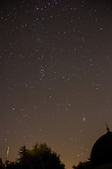 The night sky over Armagh including the Pleiades and the Andromeda Galaxy